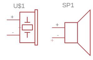 Electret and speaker symbol
